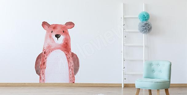 Nálepka zvířata: medvídek