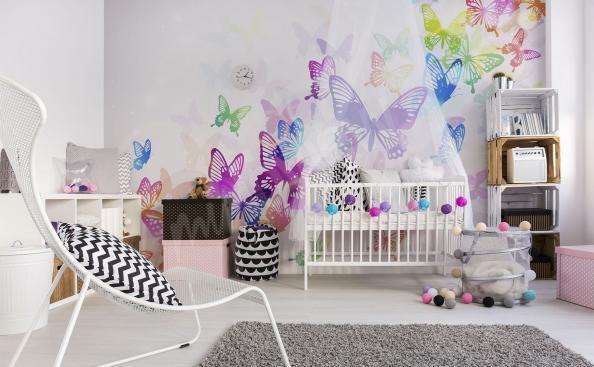 Nálepky na zeď barevní motýli