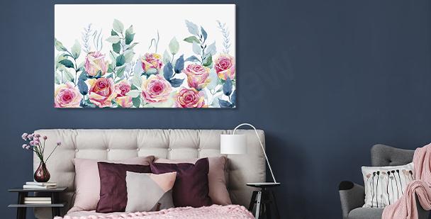 Nástěnný obraz s růžemi