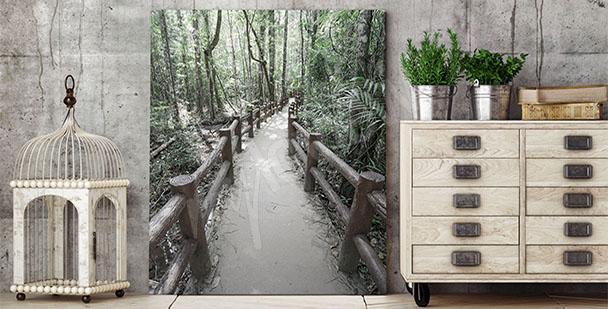 Obraz 3D s lesem