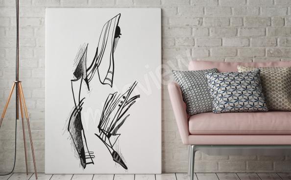 Obraz abstrakce černobíle