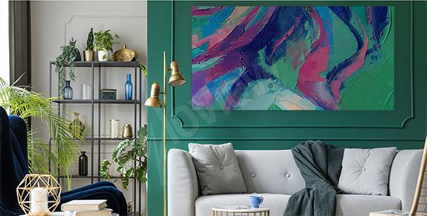 Obraz abstrakce do obývacího pokoje
