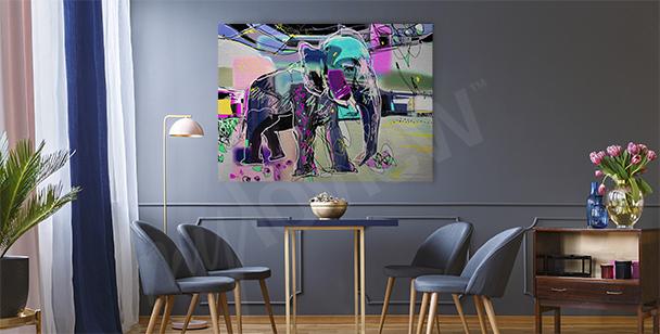 Obraz abstraktní podobizna slona