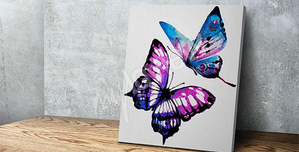 Obraz akvarel s motýly