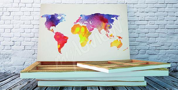Obraz akvarelová mapa