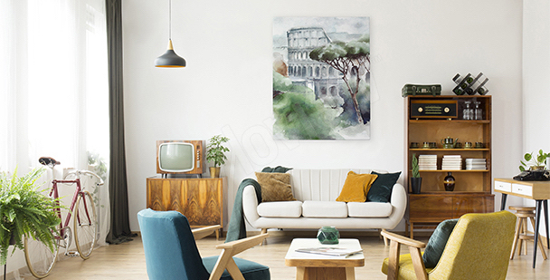 Obraz akvarelové Koloseum