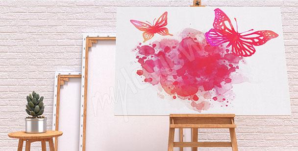 Obraz akvareloví motýli