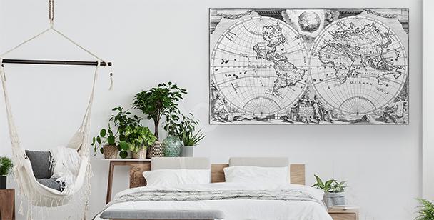 Obraz antická mapa světa