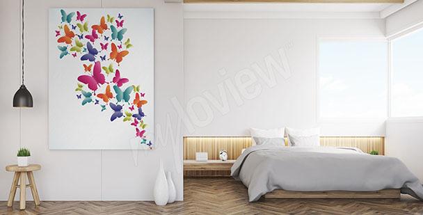 Obraz barevní motýli
