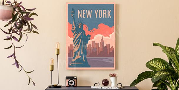Obraz barevný New York