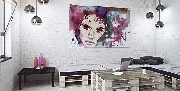 Obraz barevný portrét
