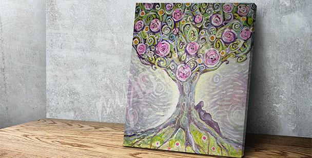 Obraz barevný strom