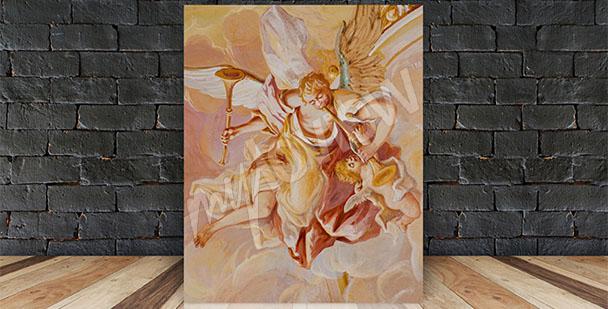 Obraz barokní freska s andělem