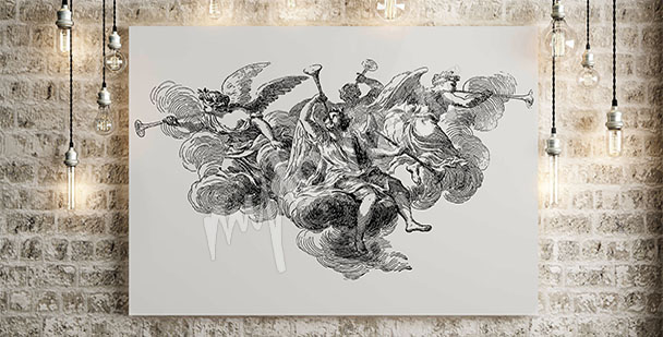 Obraz barokní s anděly