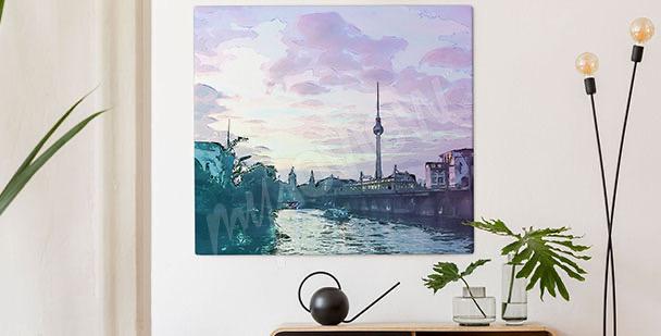 Obraz Berlín při západu slunce