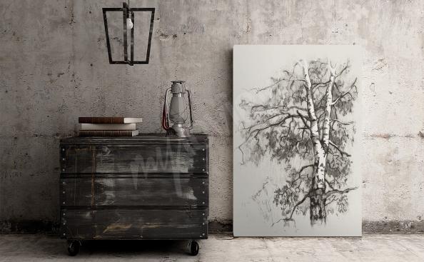 Obraz břízy - skice