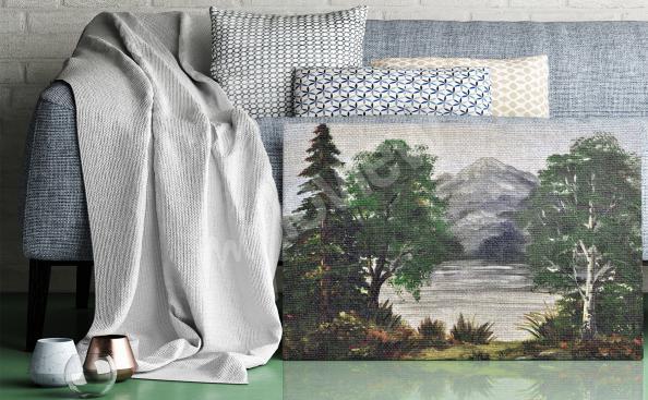 Obraz břízy v obývacím pokoji