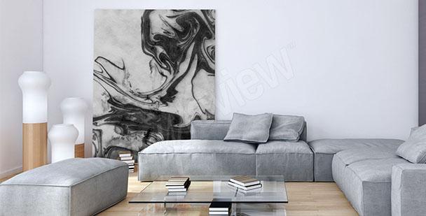 Obraz černobílý do obývacího pokoje