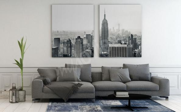 obraz černobílý New York