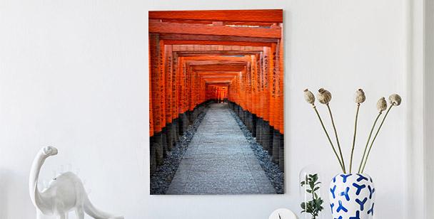 Obraz červená brána