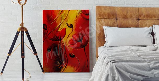 Obraz červené máky do ložnice