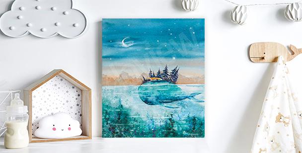Obraz cesta velryby a lišky