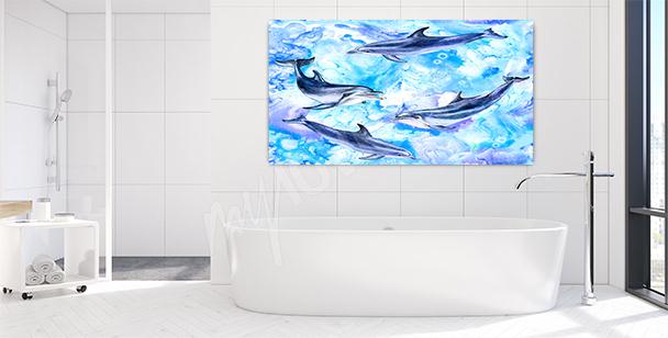 Obraz delfín do koupelny