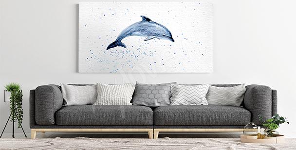 Obraz delfín do obývacího pokoje