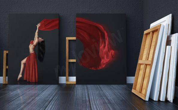 Obraz diptych s tanečnicí