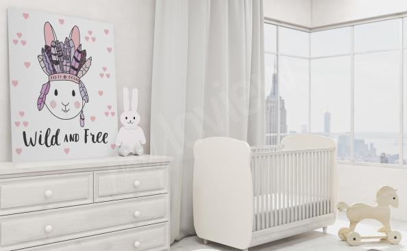 obraz do dětského pokoje zajíc