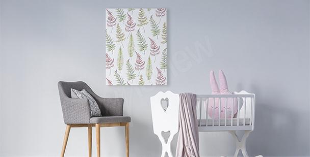 Obraz do holčičího pokoje listí