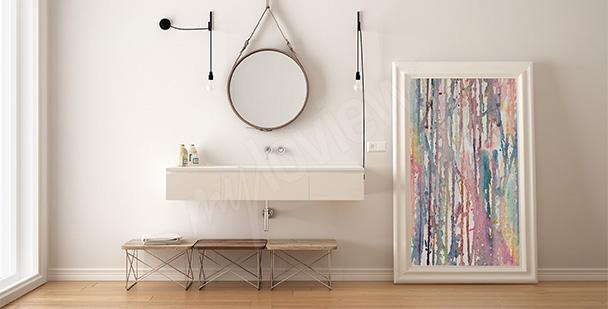 Obraz do koupelny abstrakce
