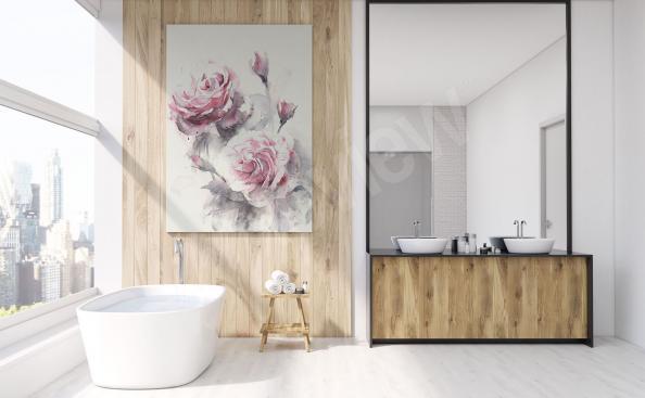 Obraz do koupelny květiny
