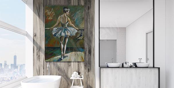 Obraz do koupelny s baletkou