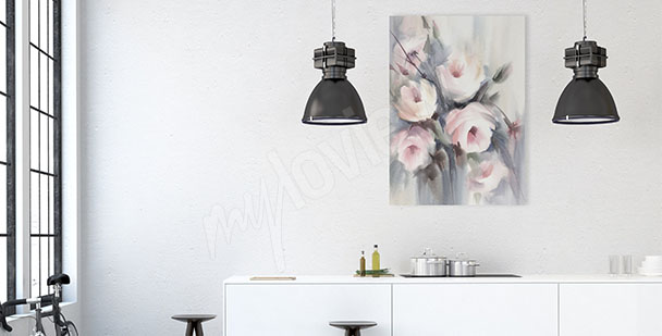 Obraz do kuchyně kytice