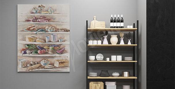 Obraz do kuchyně pokrmy