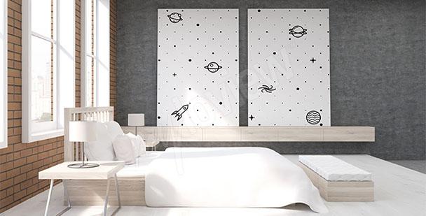 Obraz do ložnice černobílý