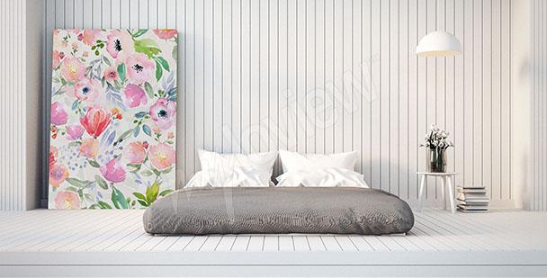 Obraz do ložnice květiny