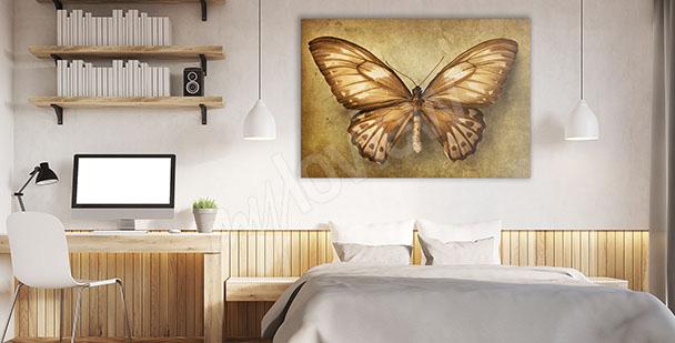 Obraz do ložnice motýl