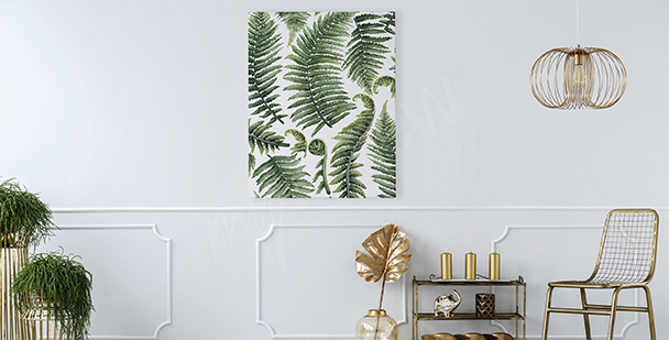Obraz do obývacího pokoje listí