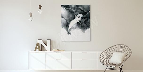 Obraz do obývacího pokoje portrét