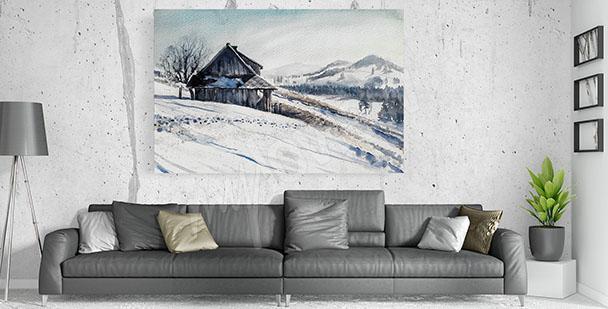 Obraz do obývacího pokoje zima