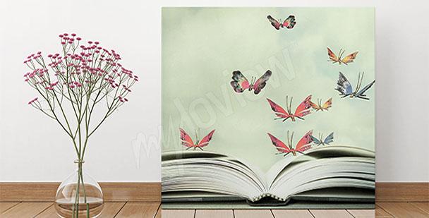 Obraz do předsíně motýli