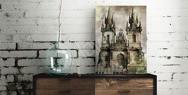Obraz do předsíně s hradem