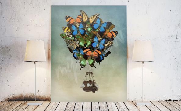 Obraz fantasy motýli