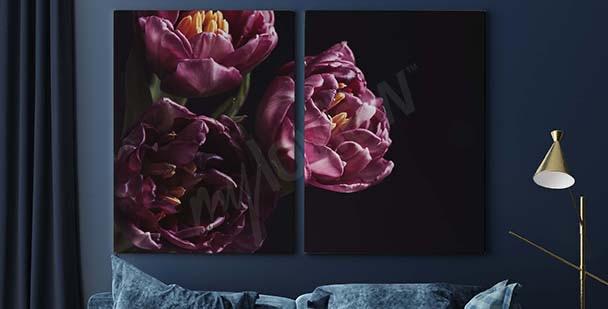 Obraz fialová kytice