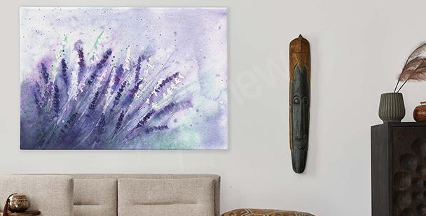 Obraz fialové květiny