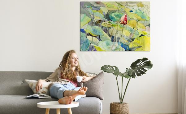 Obraz floral style – lekníny
