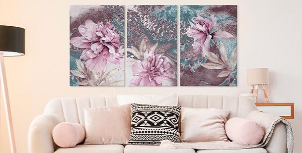 Obraz floral style – triptych