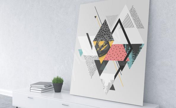 obraz geometrie ve skandinávském stylu